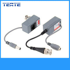 TEATE CCTV Camera Video Balun ABS Plastic Transceiver BNC UTP RJ45 Video/ Power over CAT5/5E/6 Cable CCTV Accessories TET-G05CAB