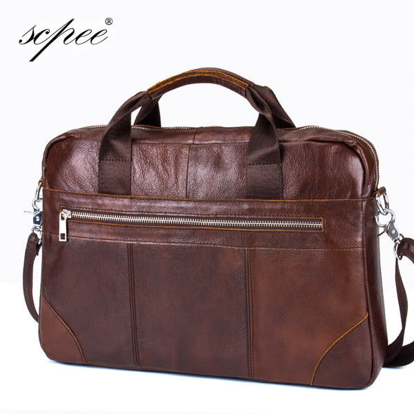 The latest men's leather briefcase computer bag man bag Men's leather shoulder bag handbag free shipping CSPEE777
