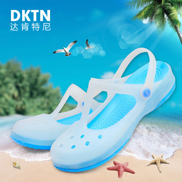 Ms. Mary Jane authentic hole shoes breathable summer mules and clogs garden shoes new thick wedge bottom women shoes #B1146