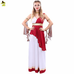2016 High-Quality Plus Size Women Halloween Costumes Goddess for Adult #160714_a110