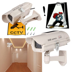 Outdoor Simulation Dummy Camera CCTV Home Surveillance Security Mini Camera Flashing LED Light Fake Camera Solar Power