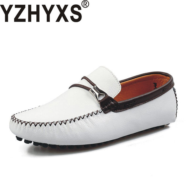 Men Loafers Flats Casual Driving Shoes %100 High Quality Genuine Leather Slip On Male Low Top Shoes 591