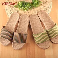 2016 Home Slippers Women Indoor Floor Flax Slippers Men Breathable Linen Slipper Home Bedroom Slippers Women Shoes ZH215-222