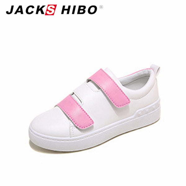 2017 New Arrival JACKSHIBO Autumn Casual Pink Chaussure Comfortable Women Shoes