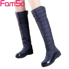 New Winter Down Waterproof Knee High Russia and Australia Snow Boots for Women