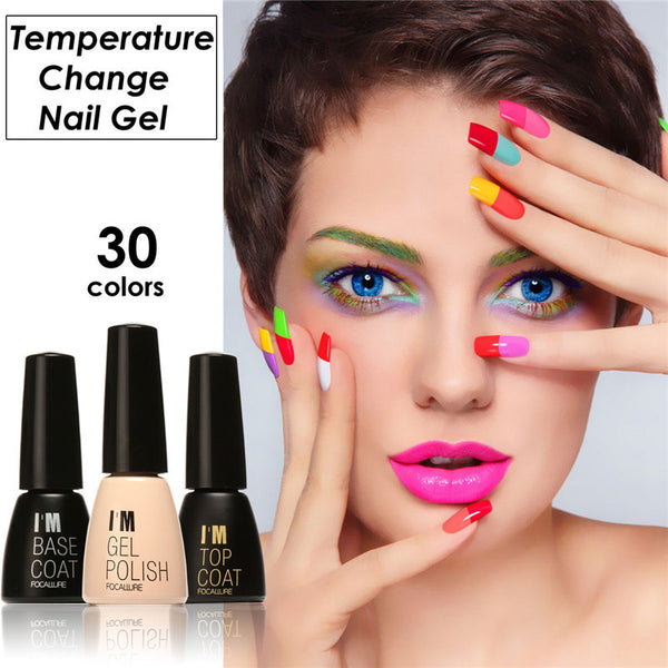 30 Colors Gel Nail Polish Nail Manicure Polish Uv Gel 7ml Waterproof Lasting Bright Colorful Temperature Change Nail Gel