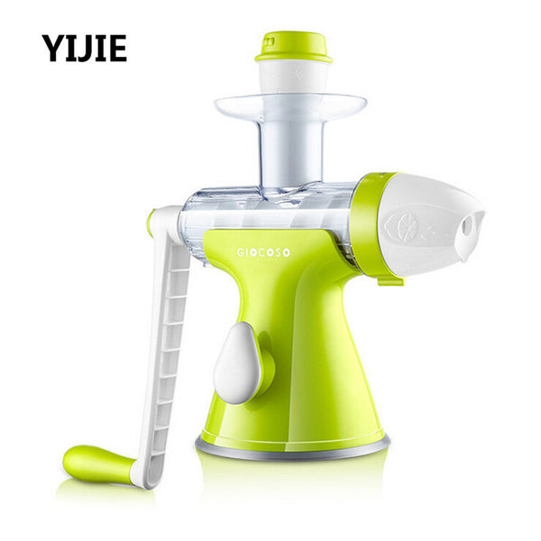 New High Quality Home Security Juicer Manual Auger Slow Juice Fruit, Wheatgrass, Vegetables, Orange Juice Extractor Machine Free Shipping
