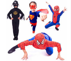 Red Spiderman Costume Black Batman Superman halloween Costumes for Kids Superhero Capes Anime Cosplay Carnival Costume