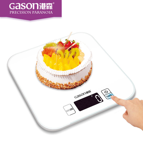 2017 New Arrival GASON C1 Kitchen Scales LCD Display Amazing Digital Toughened Glass Electronic Cooking Food Weighing Precision Tool