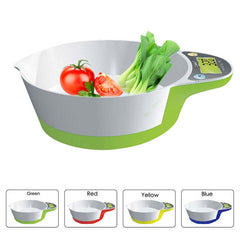 New Arrival 3 Units 5KG/1g LCD Display Digital Bowl-Shape Scale Household Kitchen Weight Tool Free Shipping