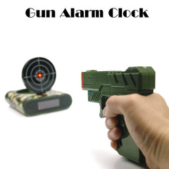 Free Shipping 1Set Gun Alarm Clock / Shoot Alarm Clock / Gun O'Clock / Lock N Load Target Alarm Clock