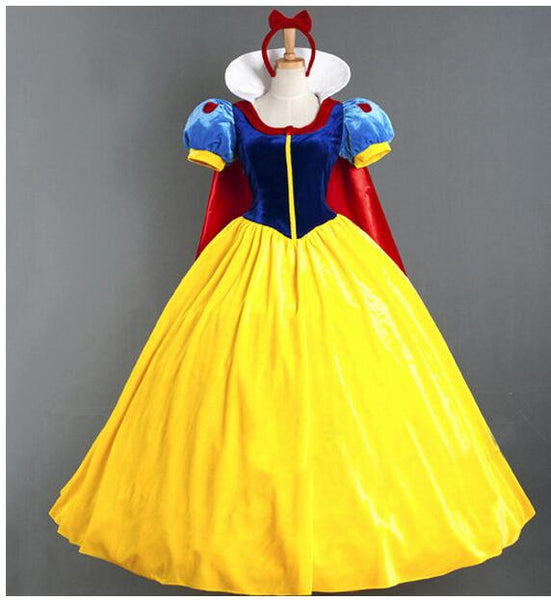 Women Adult Halloween Cartoon Princess Snow White Costume For Sale CO98321347
