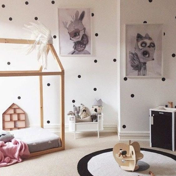 Polka Dots Wall Sticker iWall Sticker Baby Nursery Dots Wall Decal Removable Easy Wall Decor Polka Dots Wall Decors P2