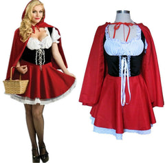 2016 New Fashion Halloween Costume Adult Women Fantasy Costume Ladies Little Red Riding Hood Costumes