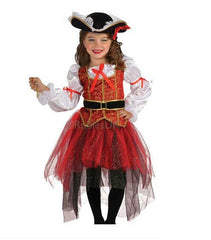 Halloween Christmas pirate costumes  girls party cosplay costume for children kids clothes CL60160