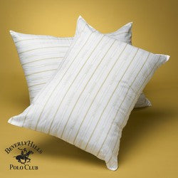 Beverly Hills Polo Club- 100% Gel Fiber Filled Pillow-Classic Stripe-Filled & Finished in USA- 5 Year Warranty Size: Standard / Queen Size-standard-queen: Size-standard-queen
