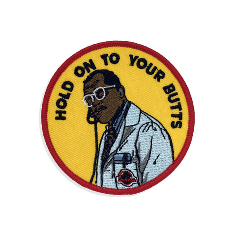 'Hold on to your butts' Iron-On Patch