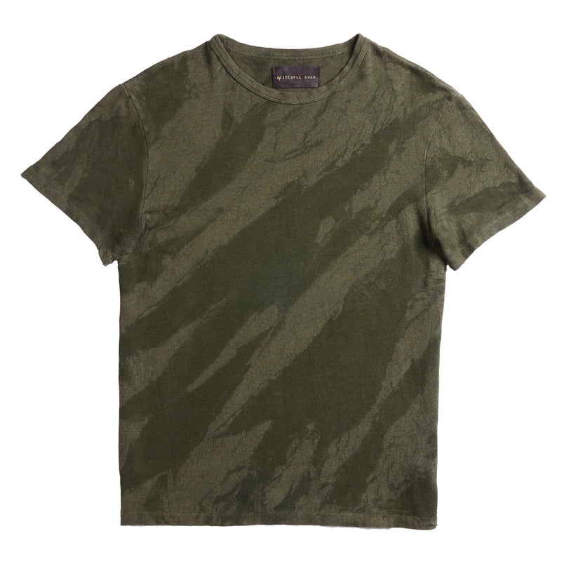 Steve T-Shirt in Green Crackle - Mitchell Evan