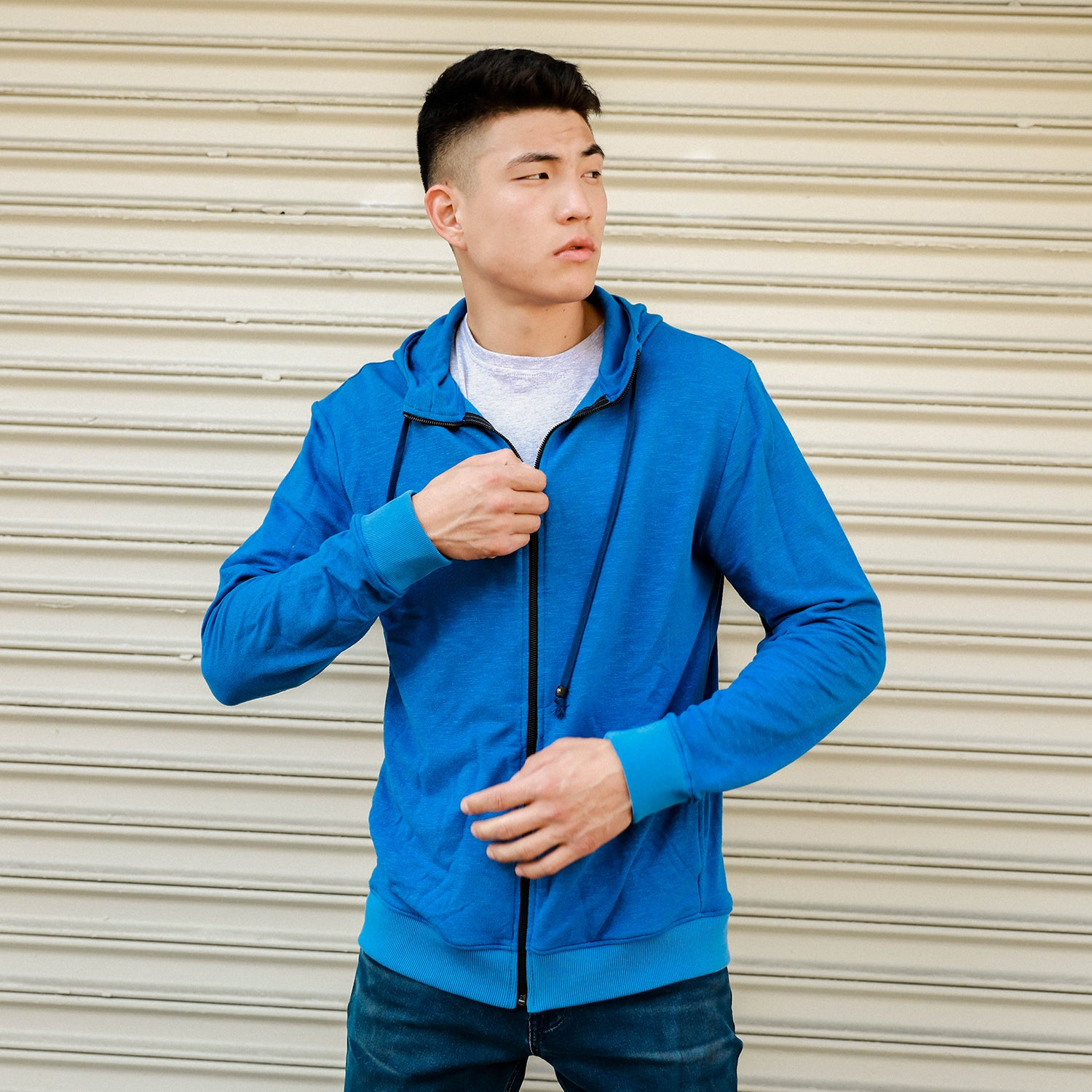 men's Zip-Up Hoodie