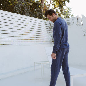 Steel Panel Joggers in Heather Navy