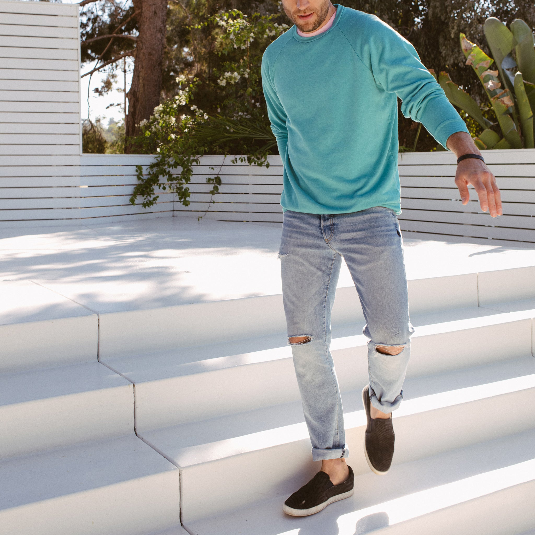 Axel Crewneck Sweatshirt in Teal