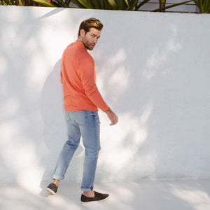 Axel Crewneck Sweatshirt in Tangerine