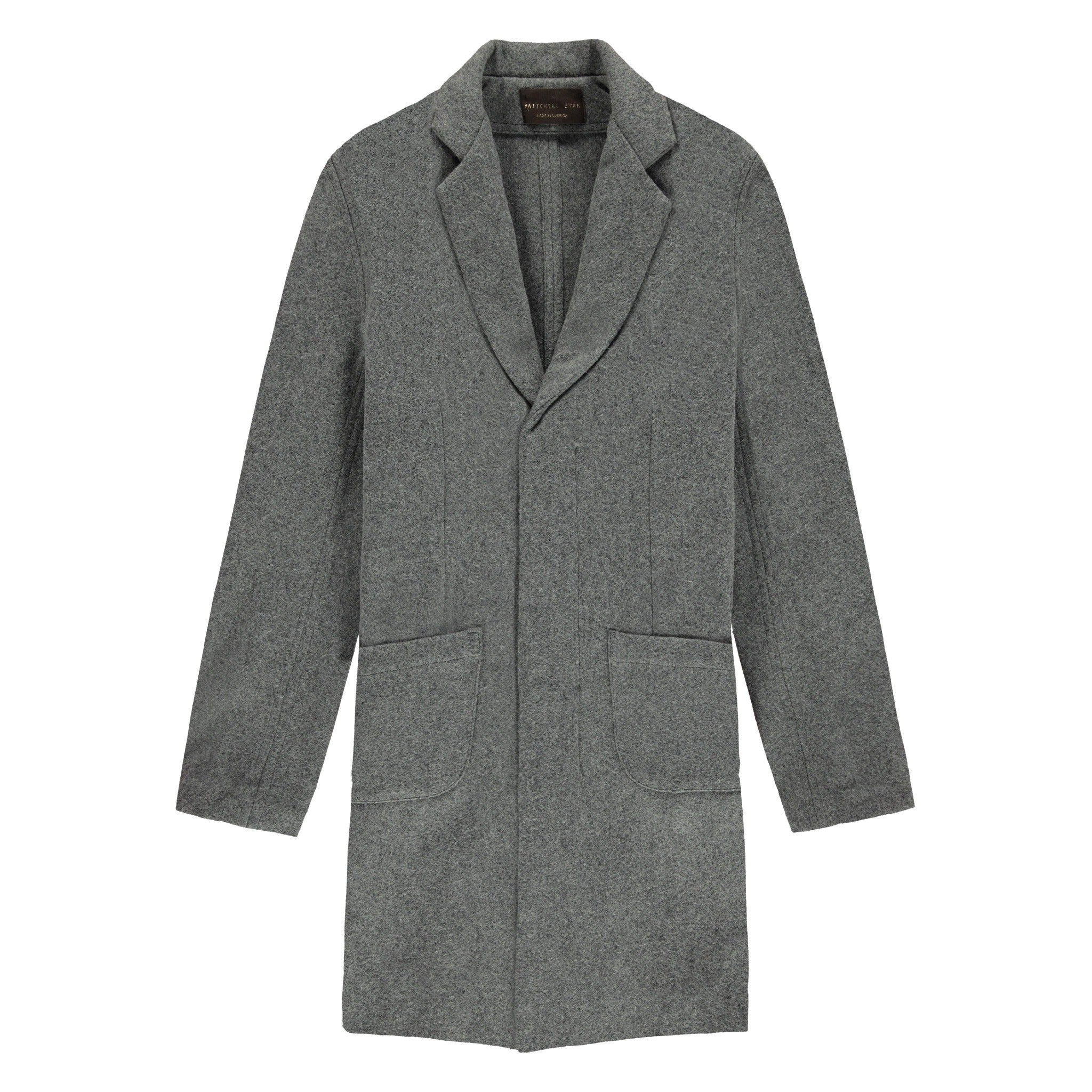 Cusack Overcoat in Heather Grey - Mitchell Evan