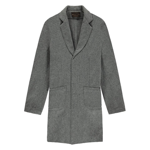 CUSACK OVERCOAT | HEATHER GREY - Mitchell Evan
