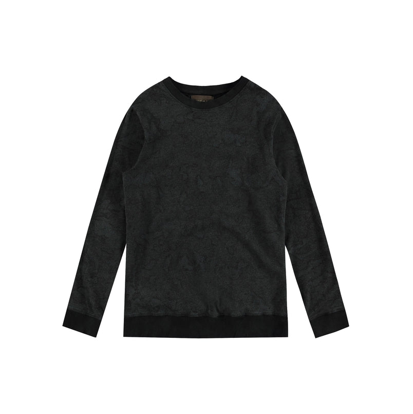Crewneck Sweatshirt in Black Camo - Mitchell Evan
