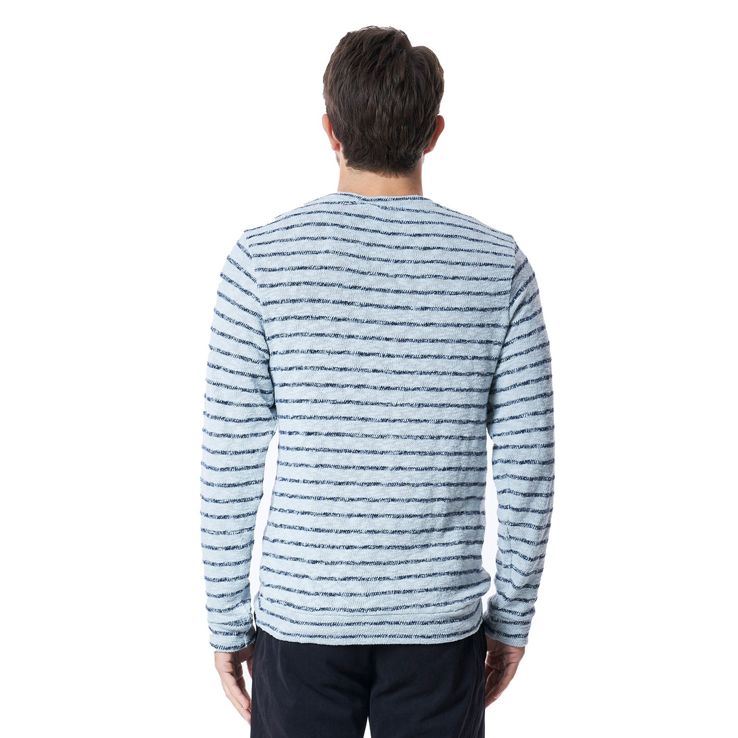 Shark Stripe Sweater in Blue Fox - Mitchell Evan