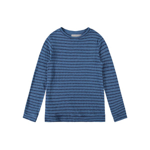 Shark Stripe Sweater in Blue Mirage - Mitchell Evan