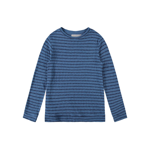 SHARK STRIPE SWEATER | BLUE MIRAGE - Mitchell Evan