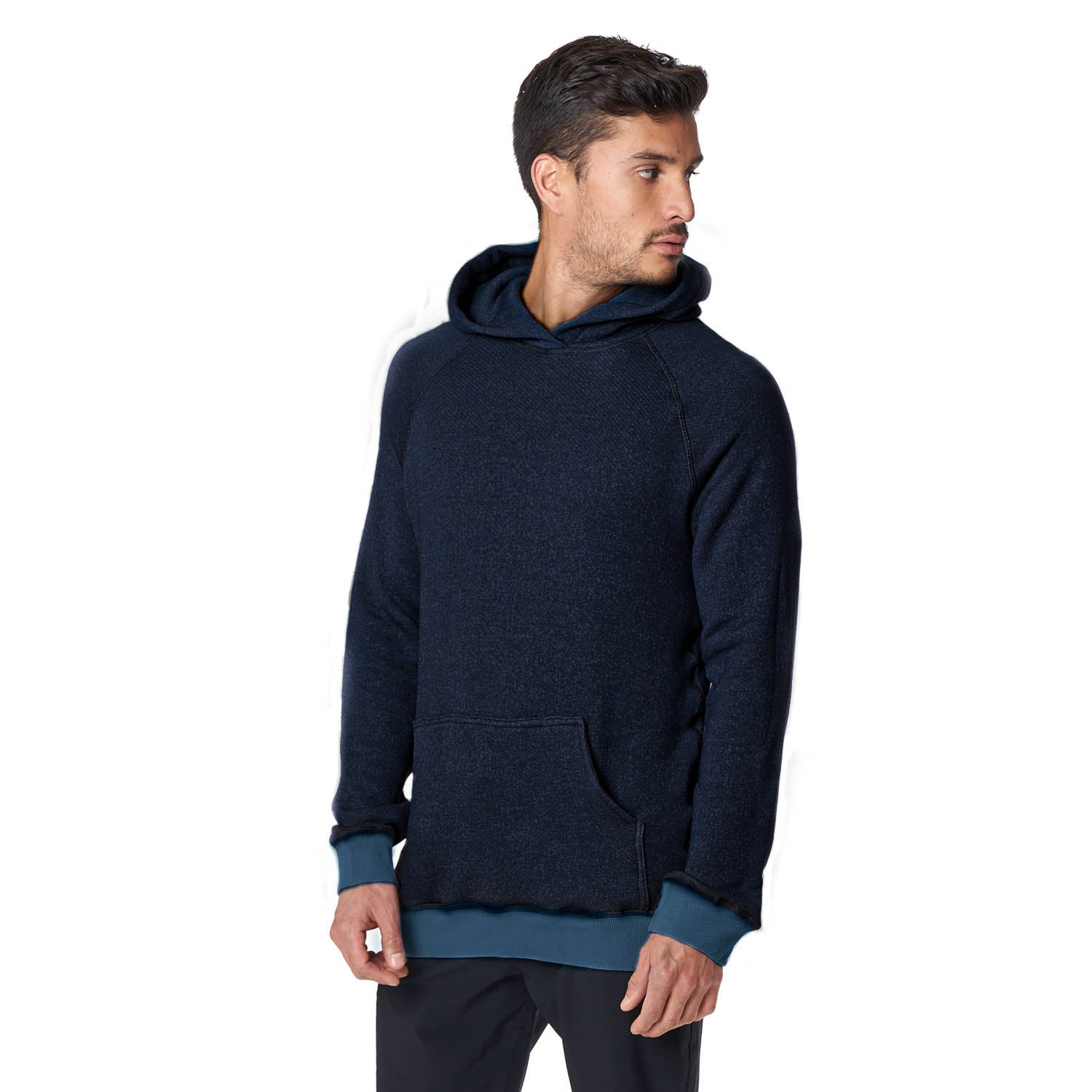Pull Over Hoodie in Navy - Mitchell Evan