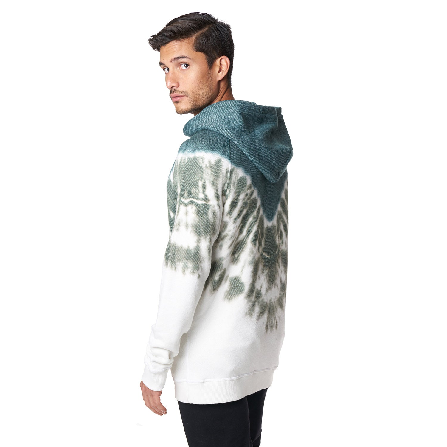 Pull Over Hoodie in Pine Dye - Mitchell Evan