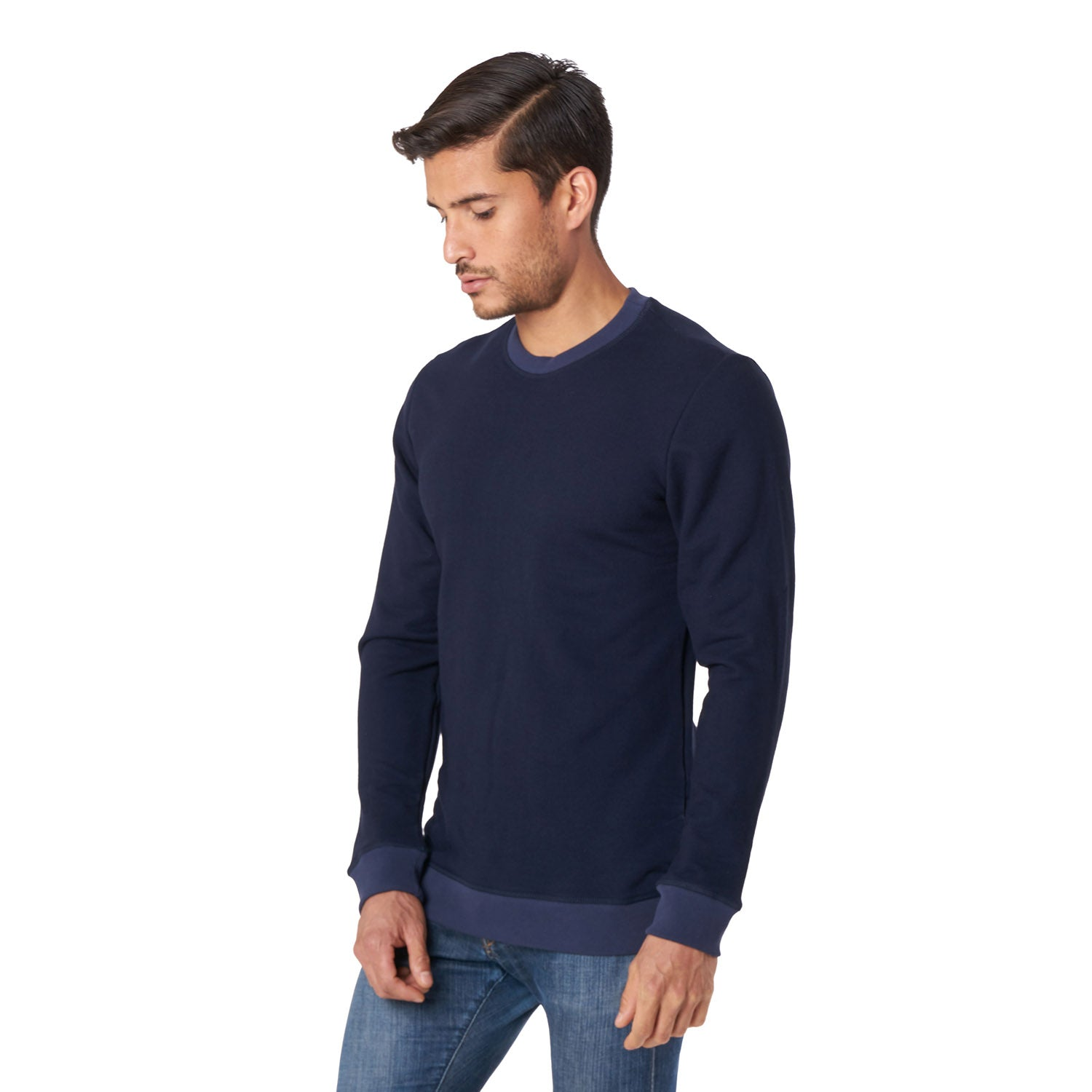 Crewneck Sweatshirt in Navy - Mitchell Evan
