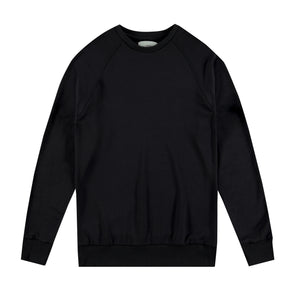 Raglan Crewneck Sweatshirt in Black - Mitchell Evan