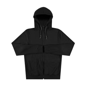 Panel Zip Up Hoodie in Black - Mitchell Evan