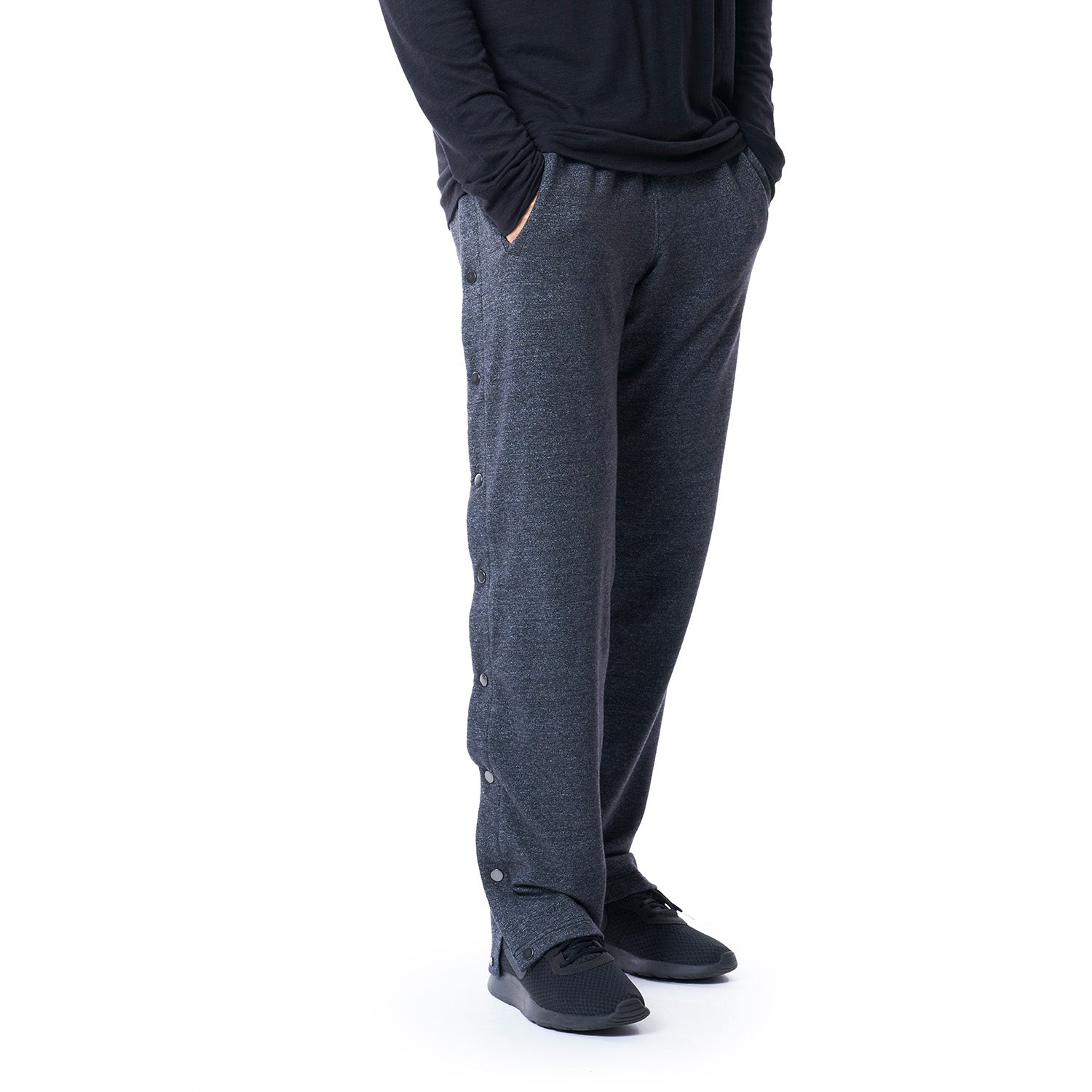 S.A.S. Tear-Away Pants in Heather Black - Mitchell Evan
