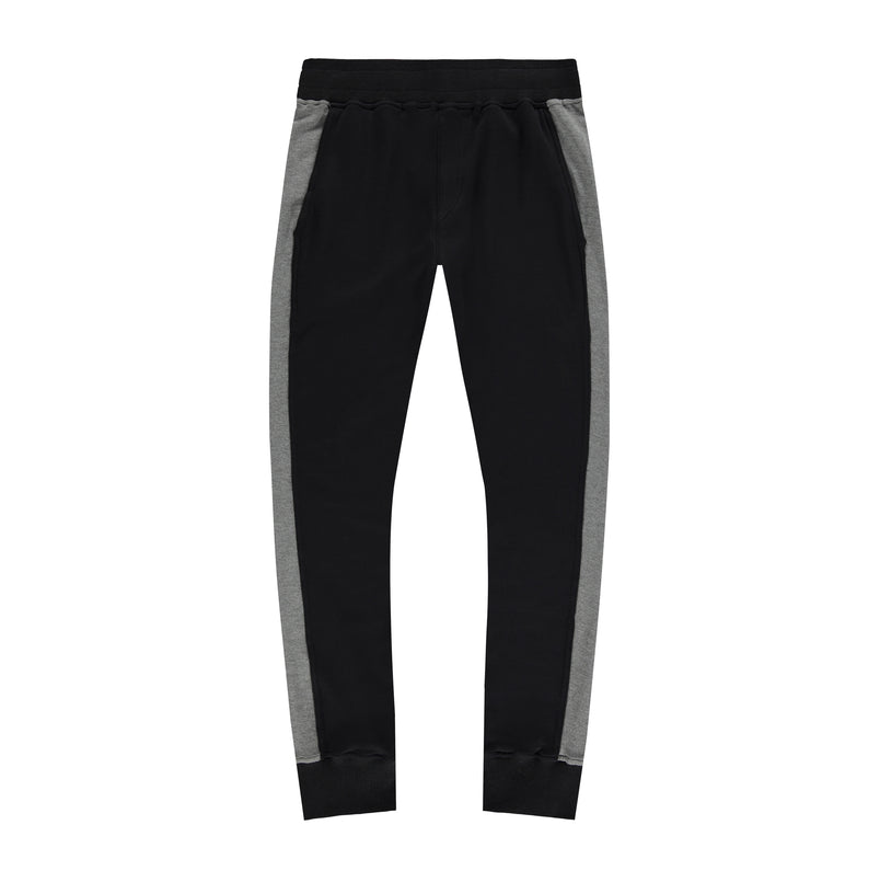 Panel Joggers in Black-Grey - Mitchell Evan
