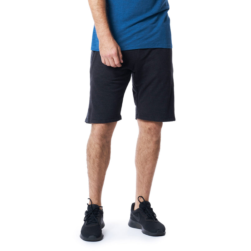 Pacific Knit Panel Shorts in Black - Mitchell Evan