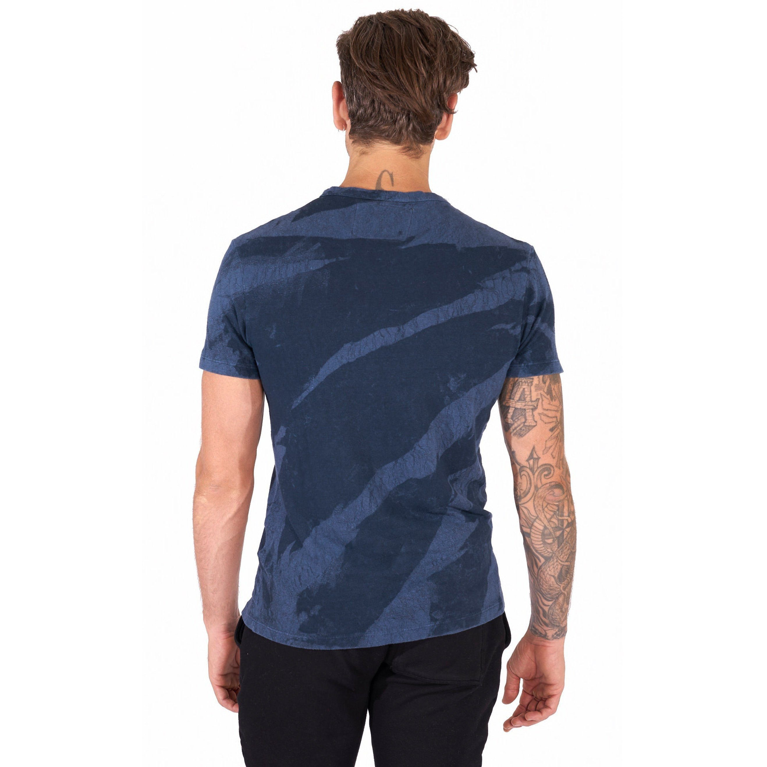 Steve T-Shirt in Navy Crackle - Mitchell Evan