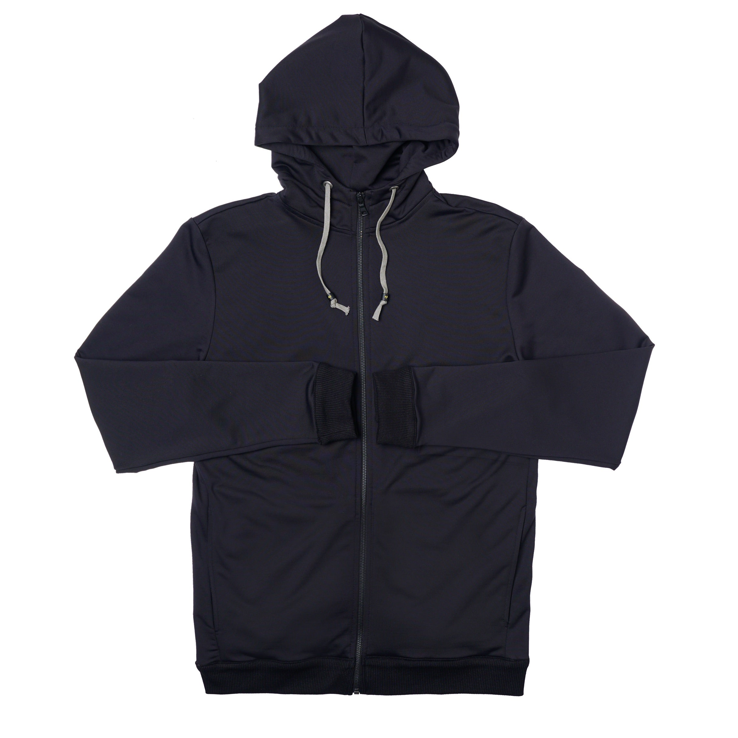 Panel Zip Up Hoodie in Tech Black - Mitchell Evan