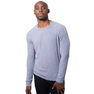 Brushed Long Sleeve T-Shirt in Soft Grey - Mitchell Evan