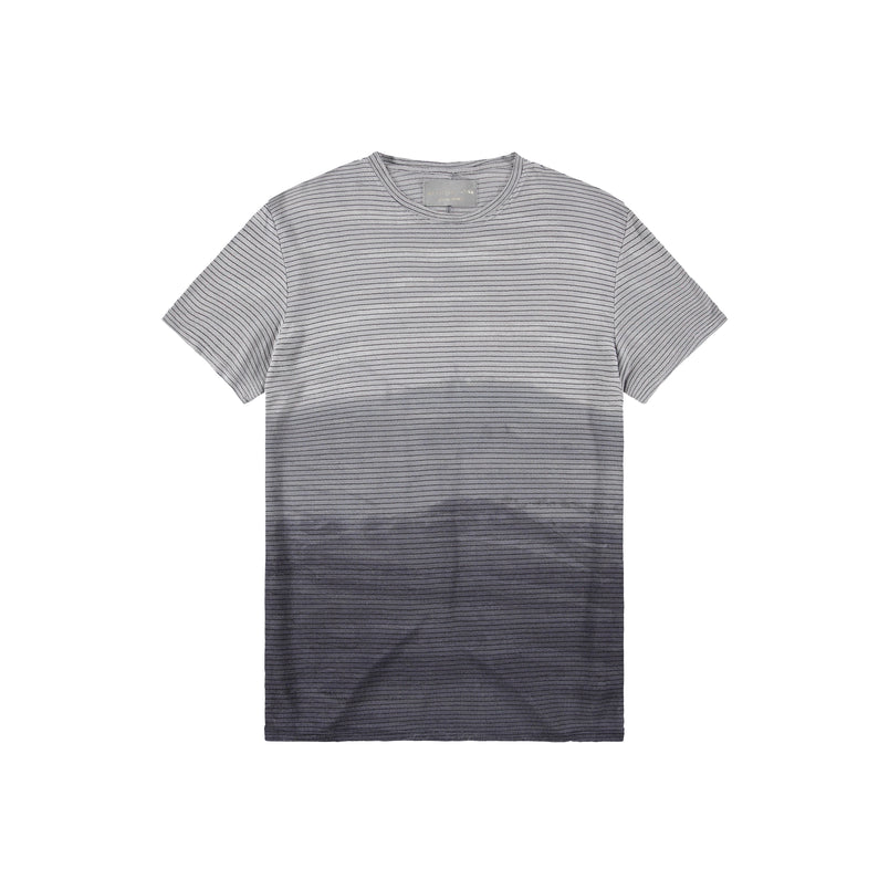 Stripe Taz T-Shirt in Black Marble - Mitchell Evan
