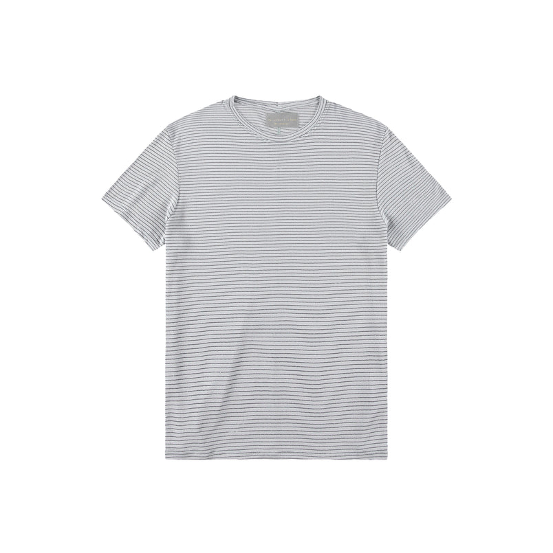 Stripe Taz T-Shirt in Blue Fox - Mitchell Evan