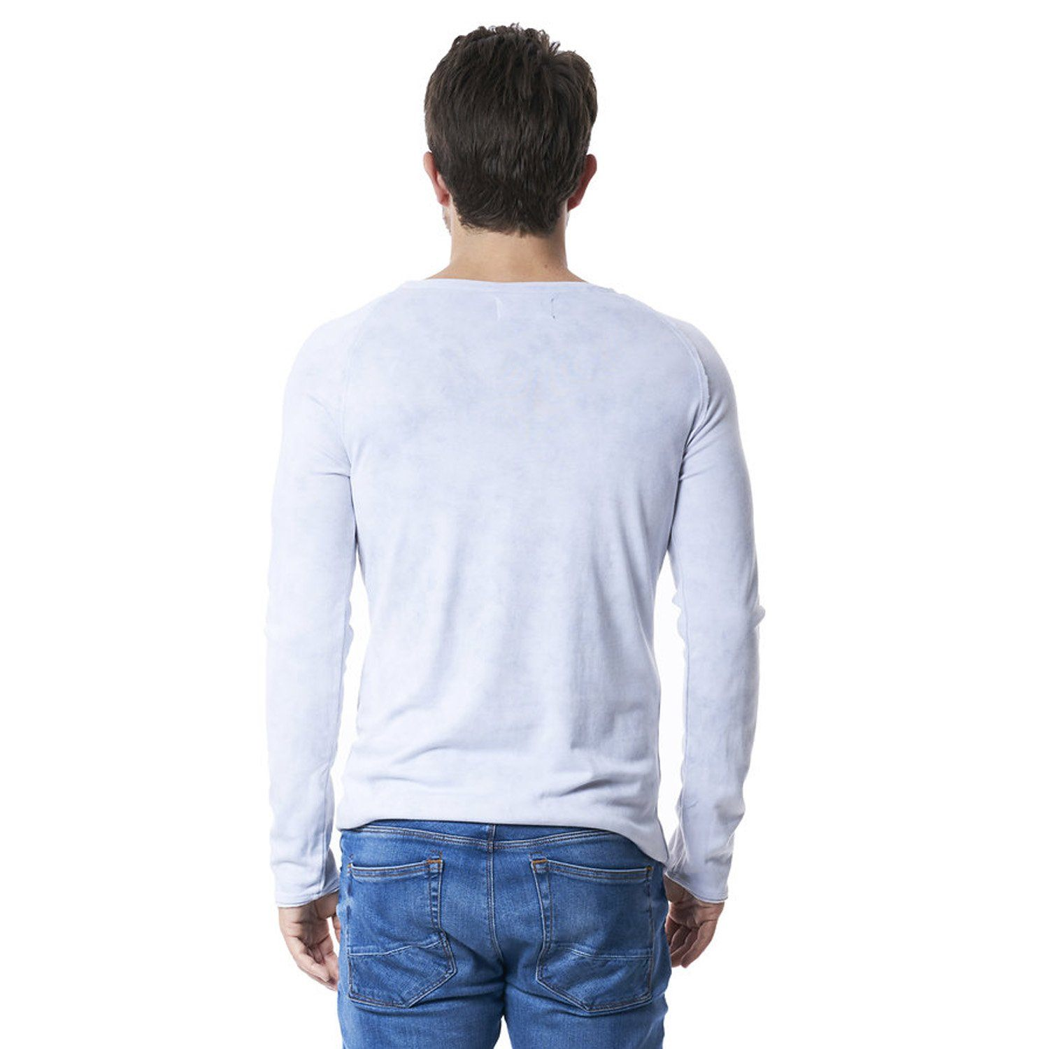 Long Sleeve Henley in Cloud Camo - Mitchell Evan