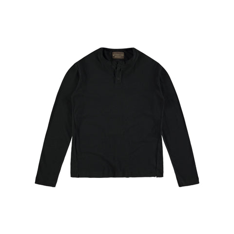 LONG SLEEVE HENLEY | BLACK - Mitchell Evan