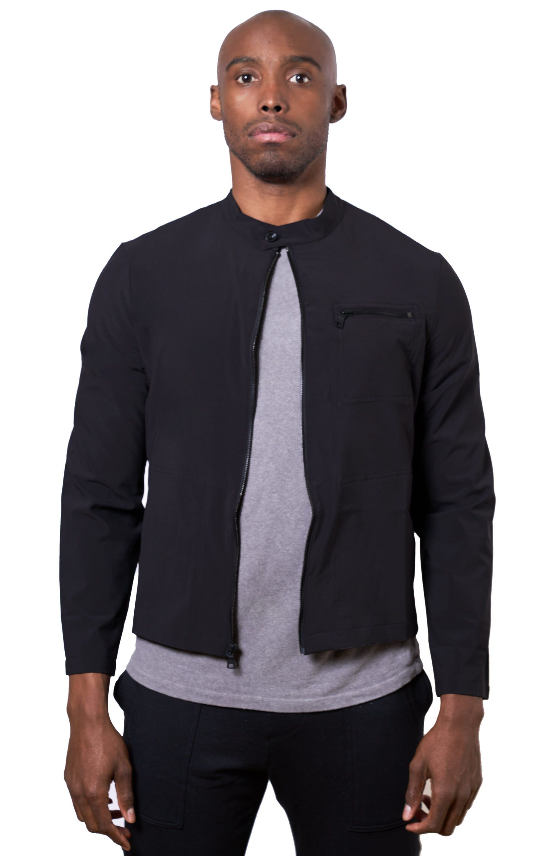 Tech Jacket in Black - Mitchell Evan