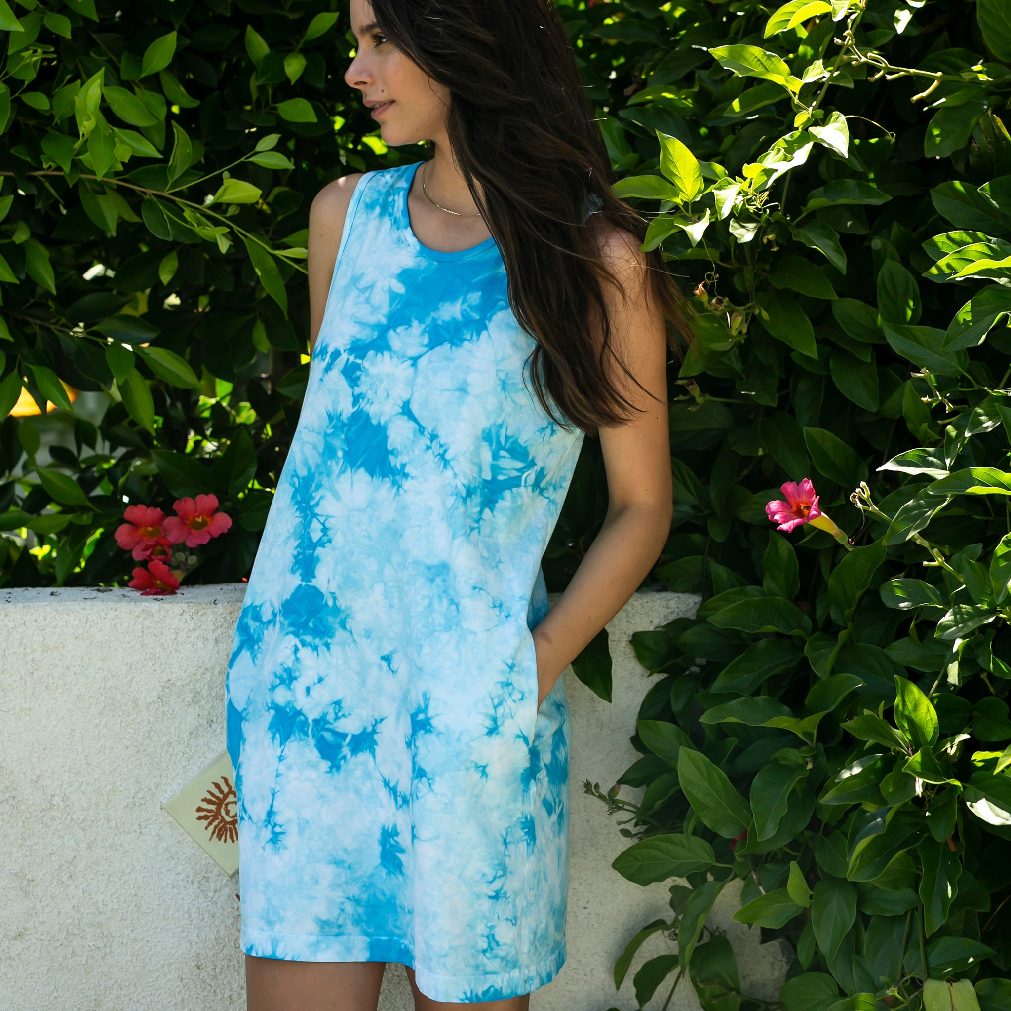 La Jolla Dress in Aquamarine