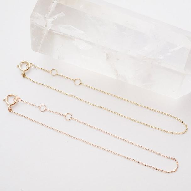 Whisper Thin Chain Bracelet - 14k Gold